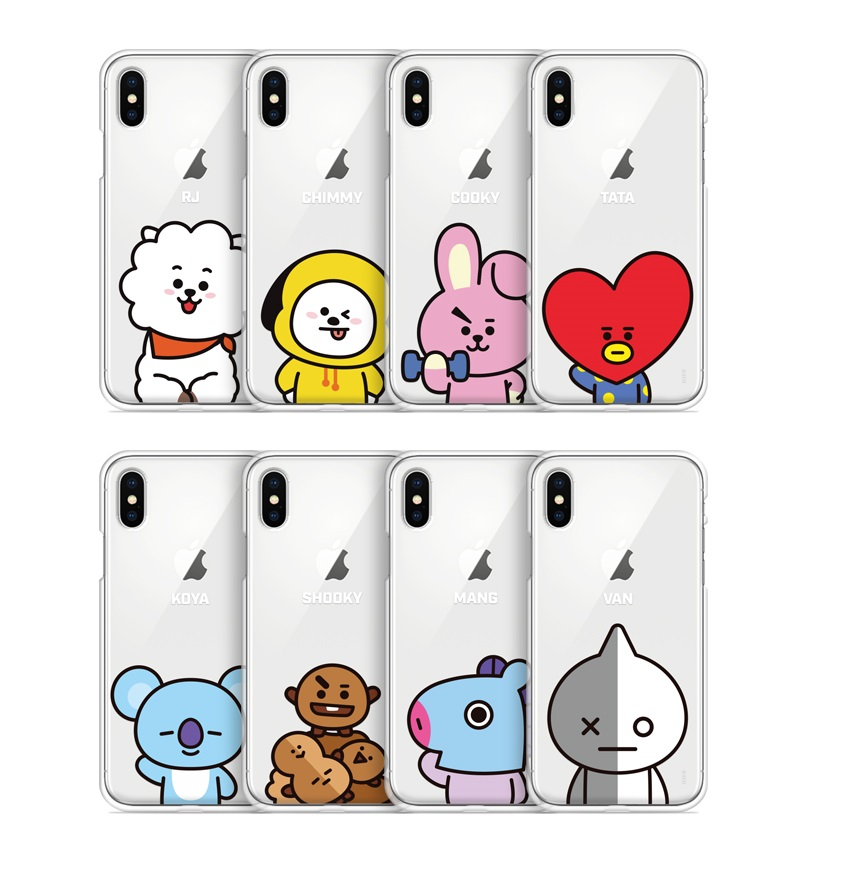 the best attitude c0d5b acb9b BT21 Phone Case - Gcase Clear Jelly Basic (Official Licensed)