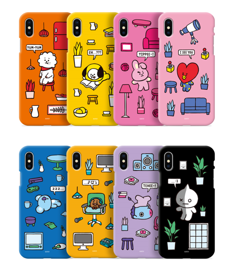 factory authentic 09fdd d561e BT21 Phone Case - Color Soft Jelly Roomies Series (Official Licensed)
