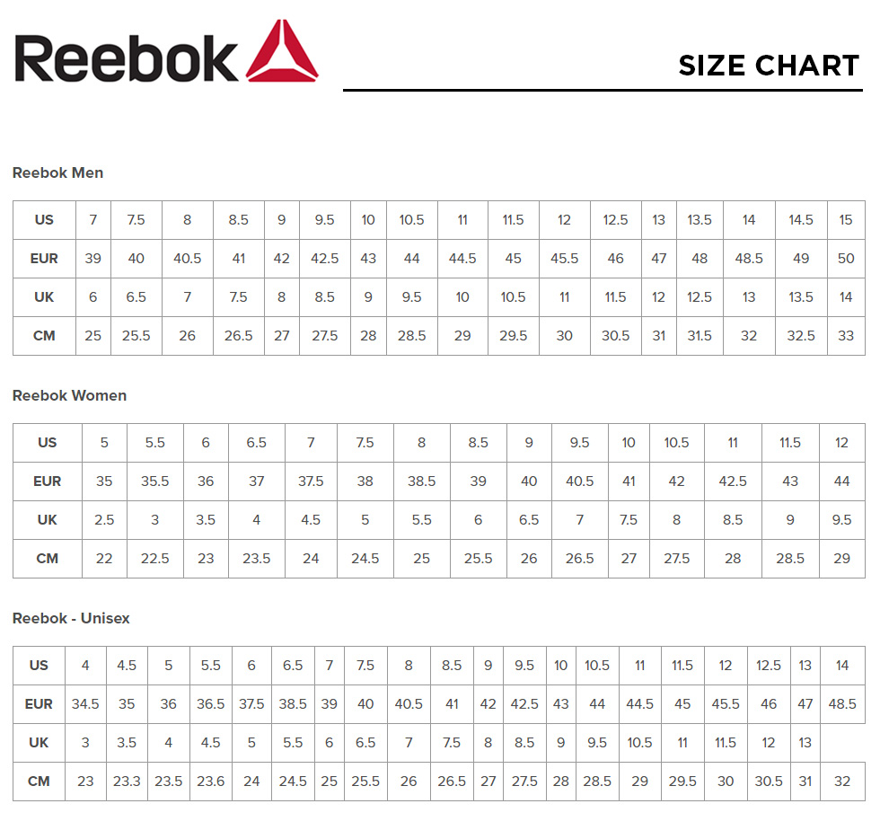Reebok Sneakers Sizing 59 Off Awi Com