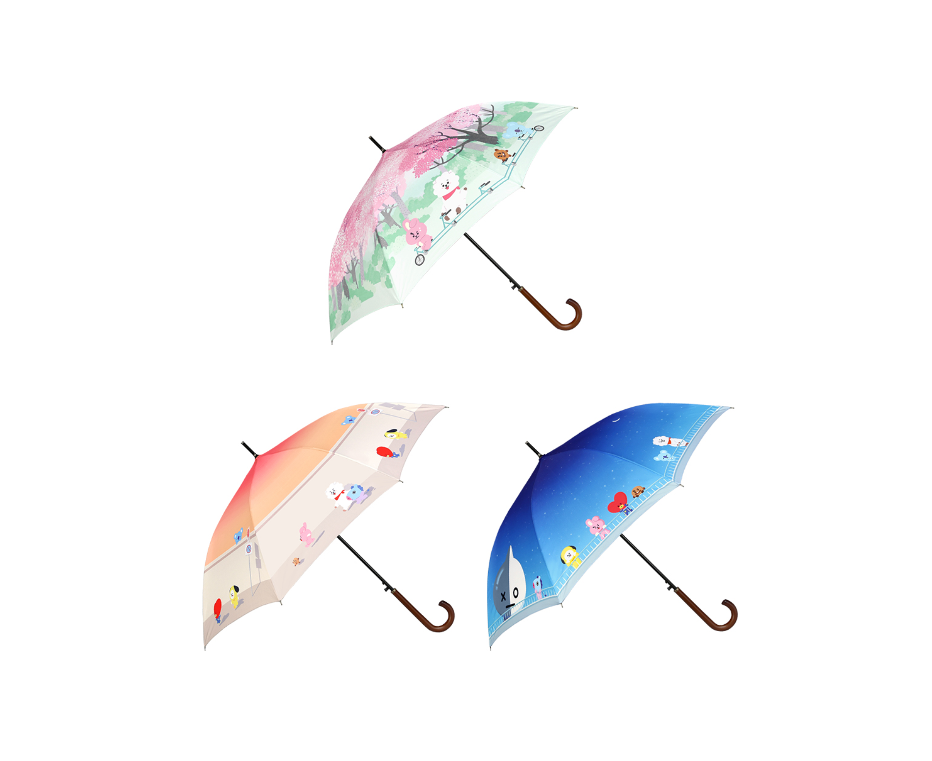 BT21 DTP Automatic Long Umbrella – 1004 K-SHOP